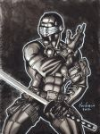 GI JOE SNAKE EYES INK WASH PIN UP by AHochrein2010