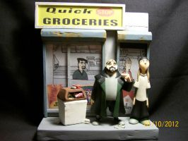 Jay and Silent Bob diorama by Dan J. Gutwein by danjgutweincreations