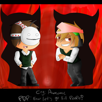 Lucius: Pewds and Cry by Piggy-The-PumpedPig