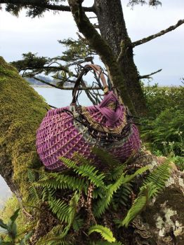 Basket Weaving Fern Forest with River and Ocean by WeepingGrove
