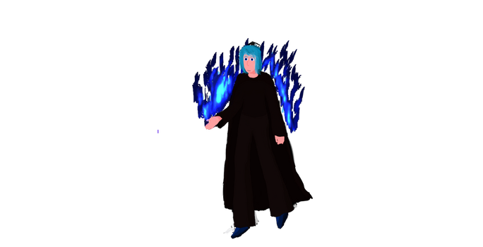 Blue flame sorceress edited by IndigoWizard