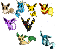 Eeveelutions by lovely-chaotic