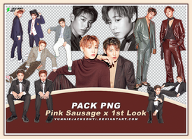 [PNG Pack #29] Wanna One Pink Sausage x 1st Look by yunniejacksonyi