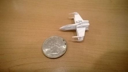 Tiny Origami X-Wing by taerkitty