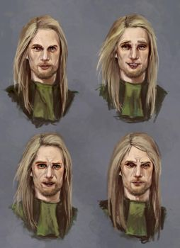 Male Character Face Expression by saydistance1