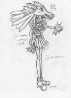 Ice Princess :Uncolored: by Candy-Ice