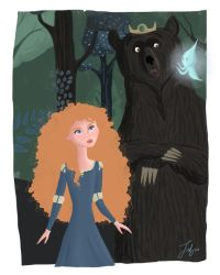 merida and mother by fabiosketches