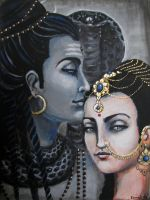 Shiva and Shakti by KamaliOm