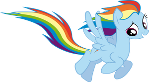 Rainbow Dash Fly by by RedPandaPony