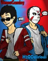 VanossGaming and H2ODelirious by zSnowfilez