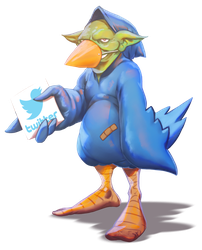 Tweet Tweet Goblin by thedarkcloak