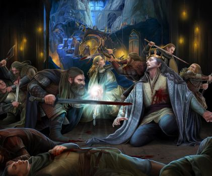 Death of Thingol by steamey