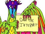 Allison With A Save The Internet Banner by FlamingGatorGirl