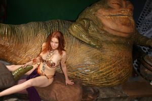 Maitland Ward|Leia Slave|The Fourth Star Wars Day by c-edward