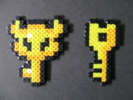 Perler Bead Zelda Keys by EP-380