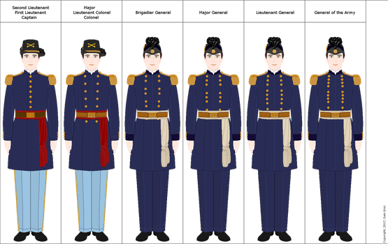 US Army: Officer's blue dress uniform (1852-72) by Arashi-senpai