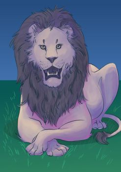 The Lion Grins Tonight by Dinosaurolophus