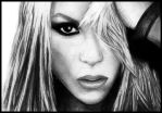 Shakira Portrait by Cpt by CptDesign