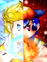 Fire and Ice by Catakat