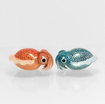 Bobtail Squid Figurines by RamalamaCreatures