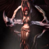 Shackled, Fantasy Angel Woman Art, Daz Studio by shibashake