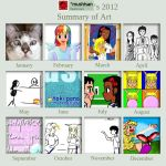 2012 Art Summary by mushisan