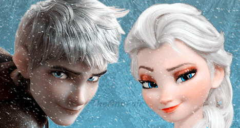 Jack Frost and Elsa by AntFair