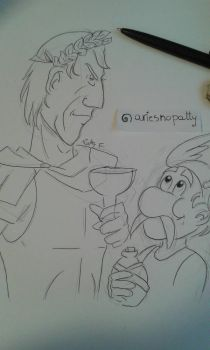 Asterix and Caesar by ariesnopatty