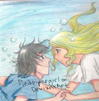 Percy And Annabeth by piedpipergirl