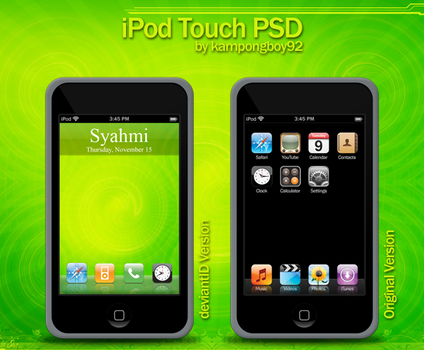 iPod Touch PSD by kampongboy92