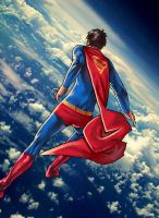 The Ol Superman In The Clouds by JulianDeLio