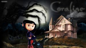 Commish: Coraline Wallpaper by bonez621