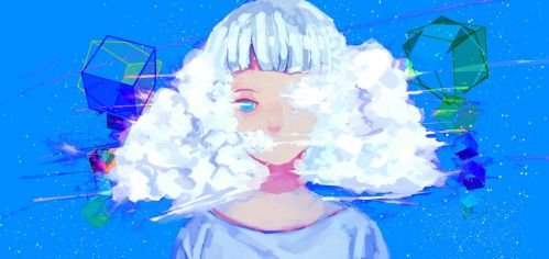 The girl The clouds by Newjessy