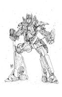 Optimus prime lineart by particle9