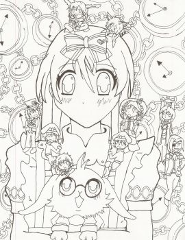 Heart No Kuni No Alice Lineart by MewQuiche