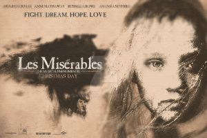 Les Miserables Movie Poster by JSWoodhams