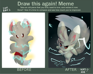 draw it again 2018 by RabbitBatThing