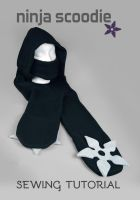 Sewing Tutorial - Ninja Scoodie with Shuriken by SewDesuNe