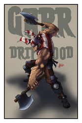 Garr Driftwood - Nuclear Pirate by theinkBot
