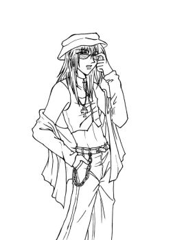 Kyo --Lineart by raerae