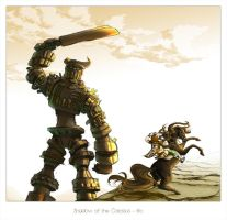 Colossus - Battle and Sunset by Irio