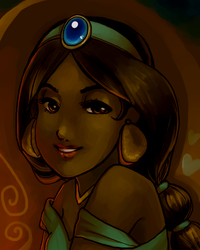 Princess Jasmine by Mrs-Crocker