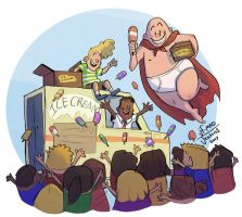 Captain Underpants -Ice Cream by MadJesters1