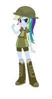 Rainbow Dash as Daring Doo by TheWalrusclown