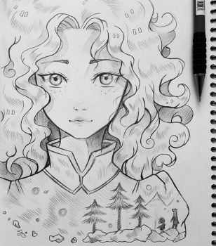 +Merida - Portrait+ by larienne