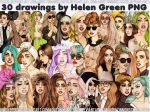 30 drawings by Helen Green PNG by AgustinMonster28