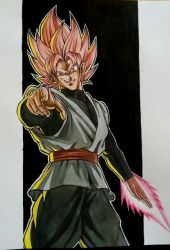 Black Goku by sexyBario