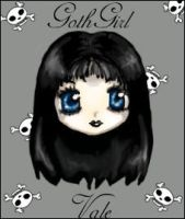 GOTH FACE by glassmoonlight