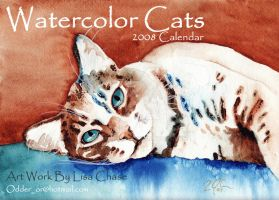 Watercolor Cats  2008 Calender by OdderByArt