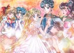Sailor Senshi Group by Eos-of-Dawn